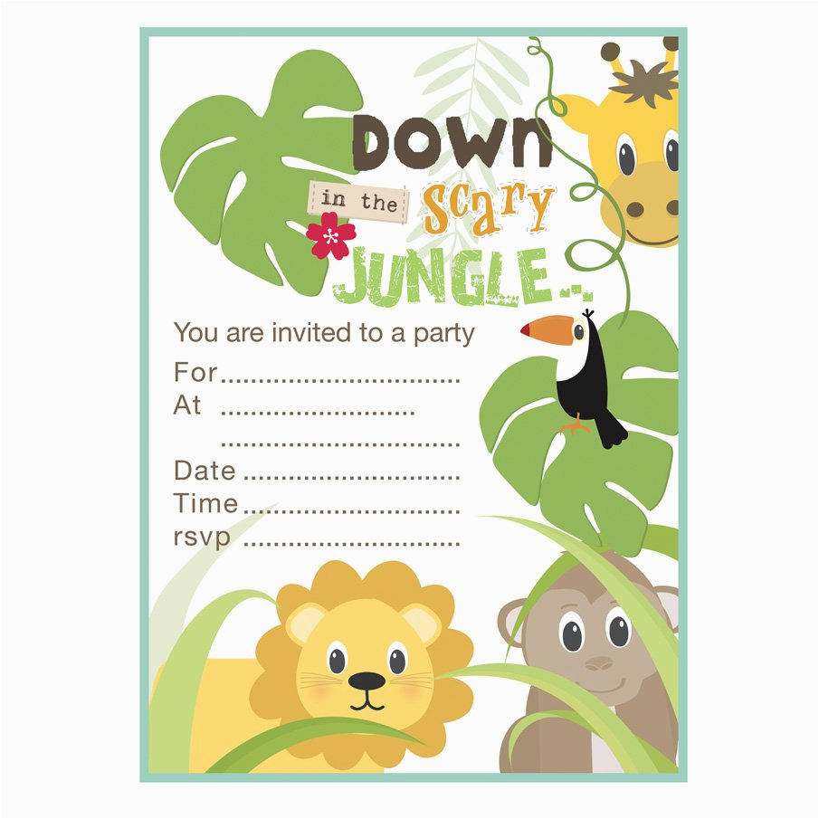Jungle Theme Birthday Invitation Template Jungle Theme Birthday - Jungle Theme Birthday Invitations Free Printable