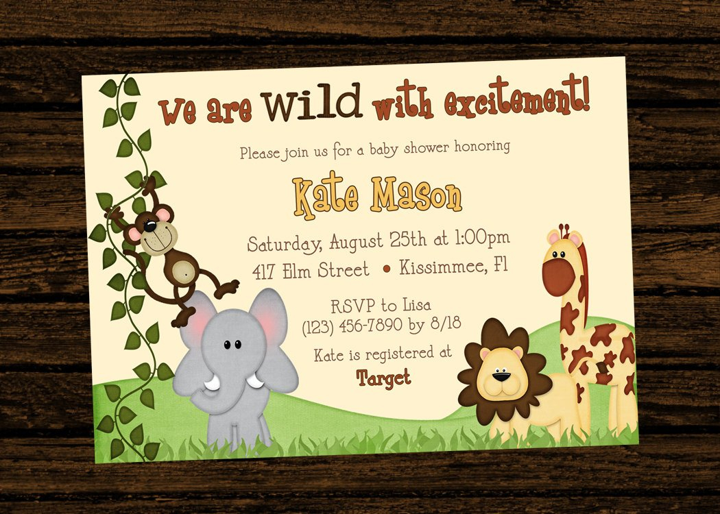 Jungle Theme Birthday Invitations Free Printable - Jungle Theme Birthday Invitations Free Printable