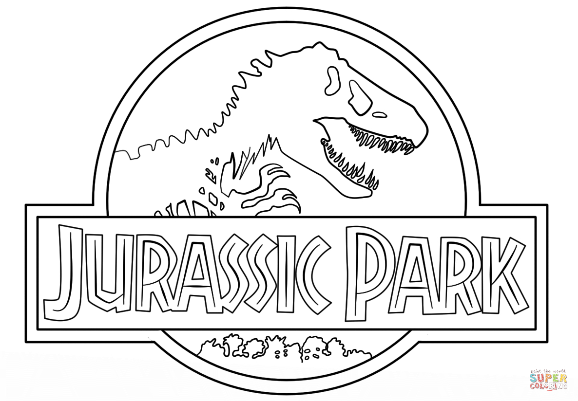 Jurassic Park Logo Coloring Page   Free Printable Coloring Pages - Free Printable South Park Coloring Pages