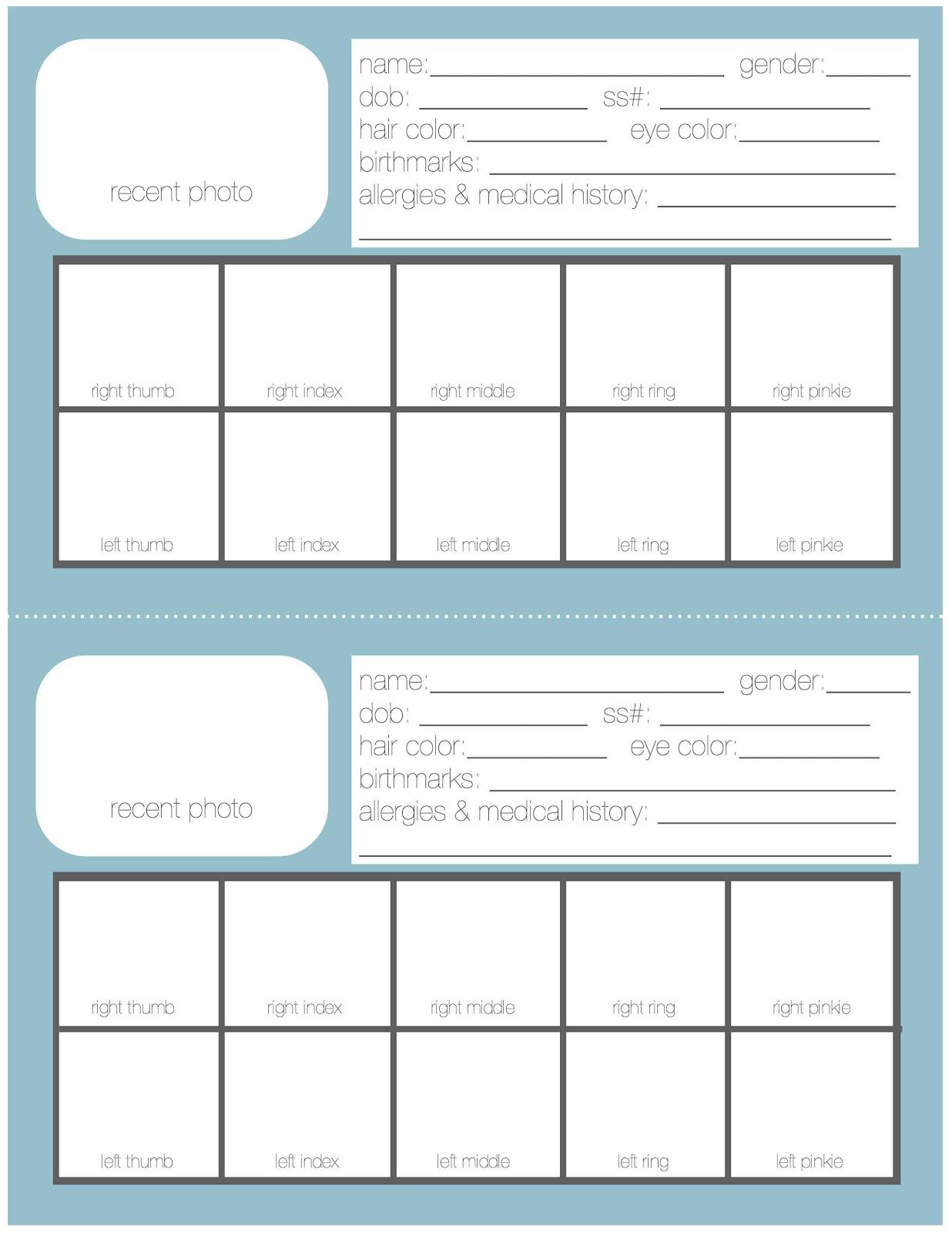 Just Sweet And Simple: Emergency Binder: Free Printables - Free Printable Customer Information Sheets