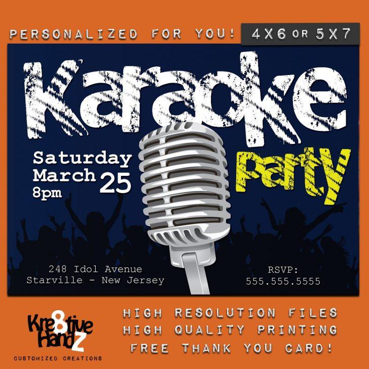 Free Printable Karaoke Party Invitations