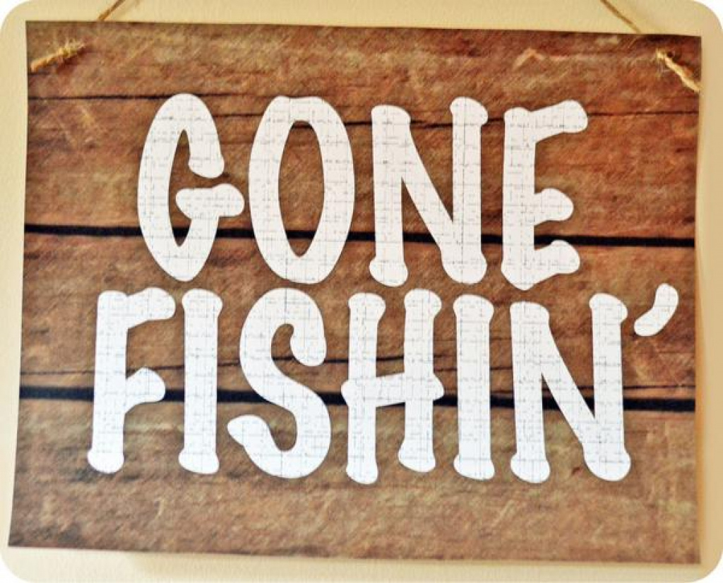 Kara's Party Ideas Gone Fishin' Fisherman Boy Birthday Party In Free - Free Printable Gone Fishing Sign