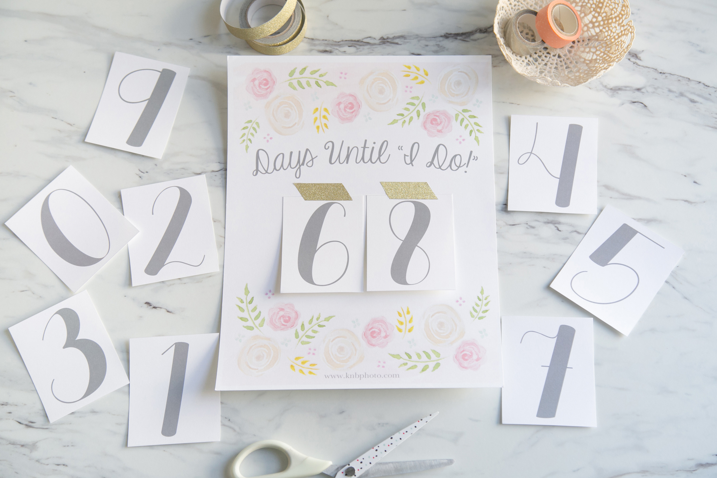 K+B Photography | Our Blog | Freebies: A Printable Wedding Countdown - Free Printable Wedding Countdown