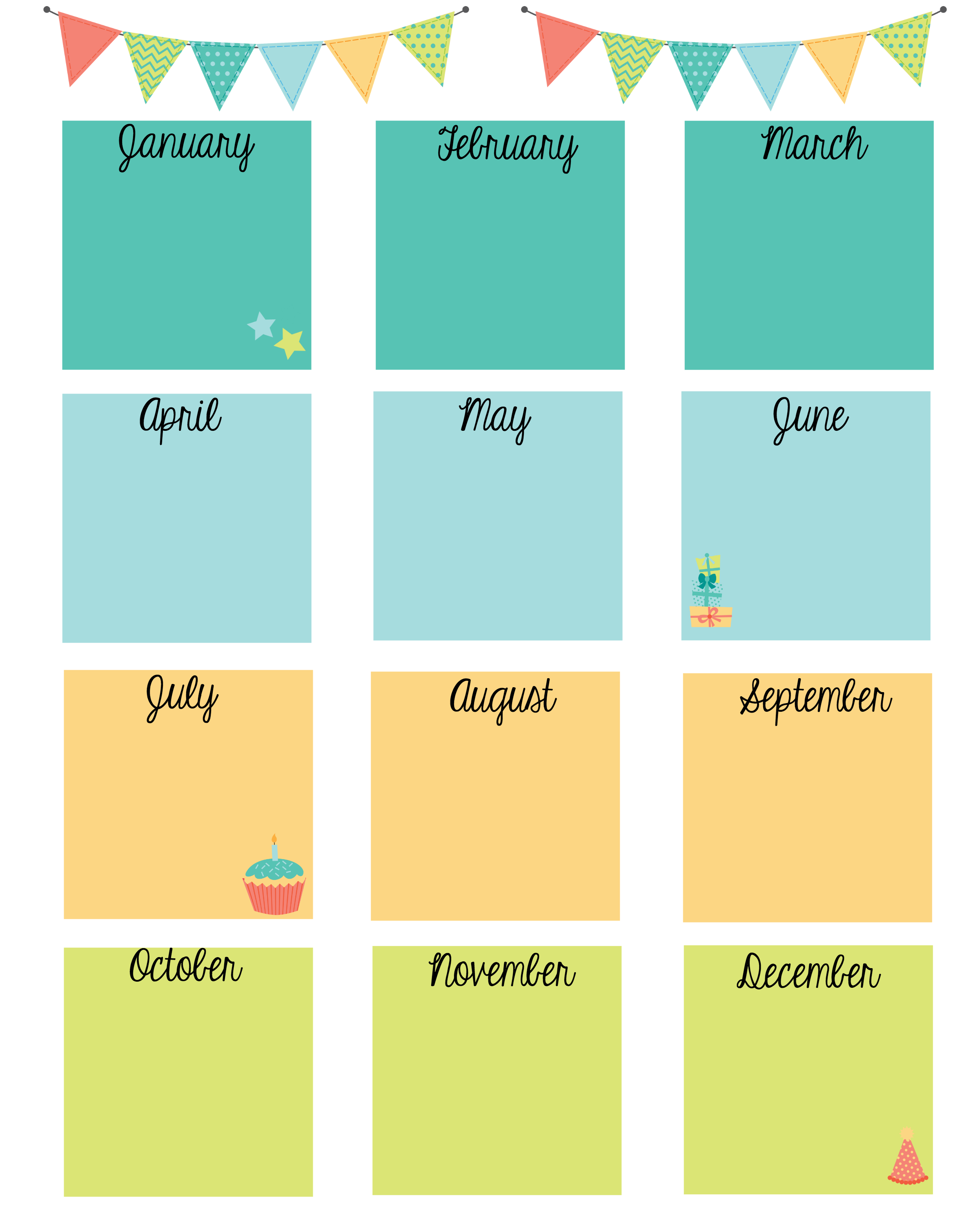 Keep In Touch With Friends With A Birthday Calendar - Free Printable Birthday Graph