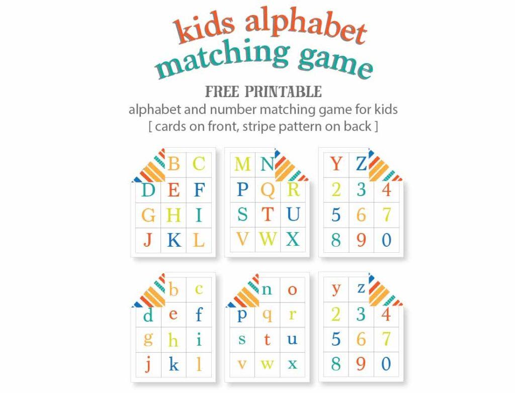 Kids Alphabet Matching Game - Free Printable | Live Craft Eat - Free Printable Matching Cards