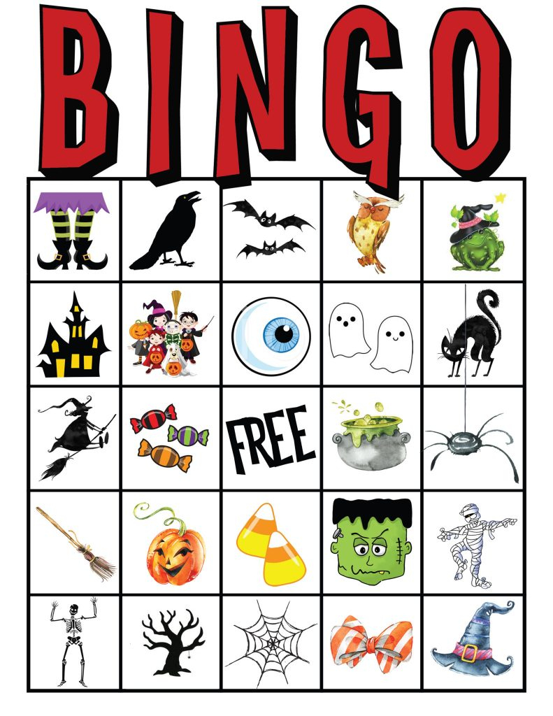Kids Halloween Party Bingo Cards Free Printable | All Things Thrifty - Free Printable Halloween Bingo Cards