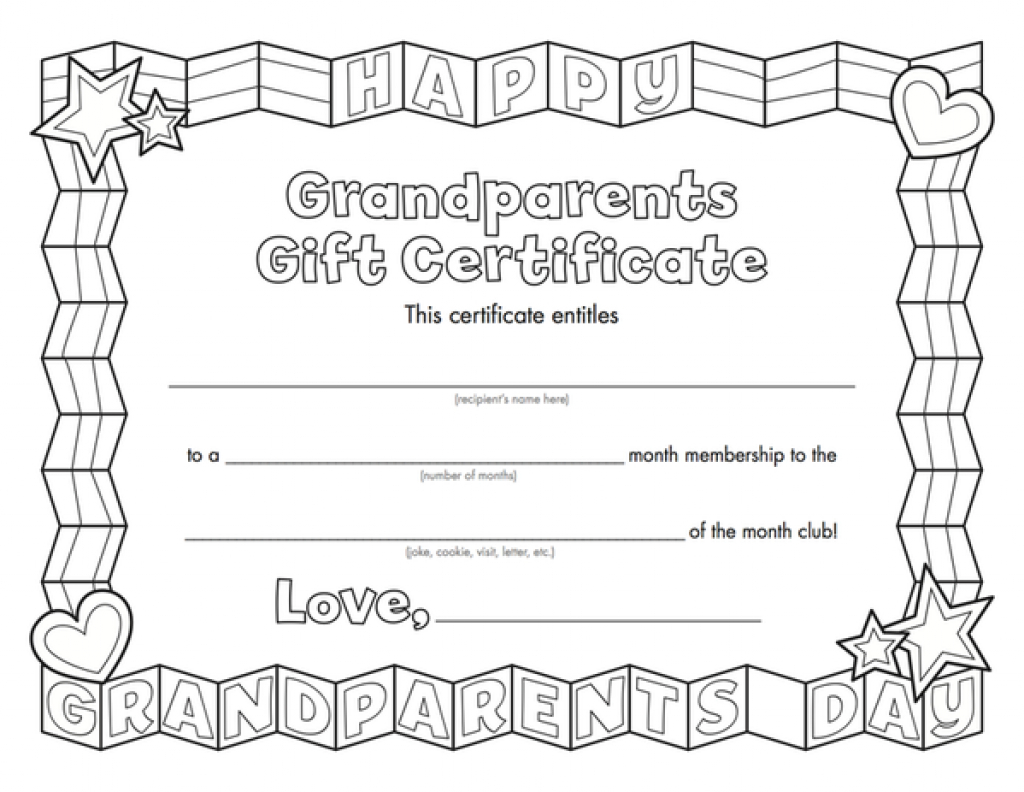Kids Magazines - Children's Magazines & Books | Grandparent Treats - Grandparents Certificate Free Printable