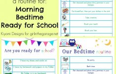 Kids' Morning, Bedtime, And Ready-For-School Free Printables – To Have And To Hold Your Hair Back Free Printable