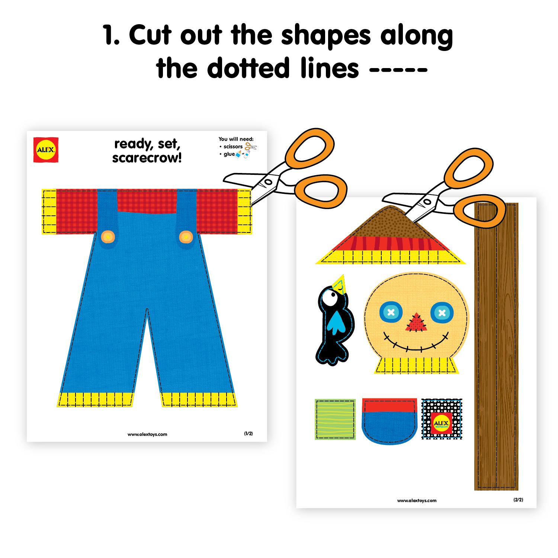 Kids Thanksgiving Crafts: Make A Scarecrow Printable - Alexbrands - Free Scarecrow Template Printable