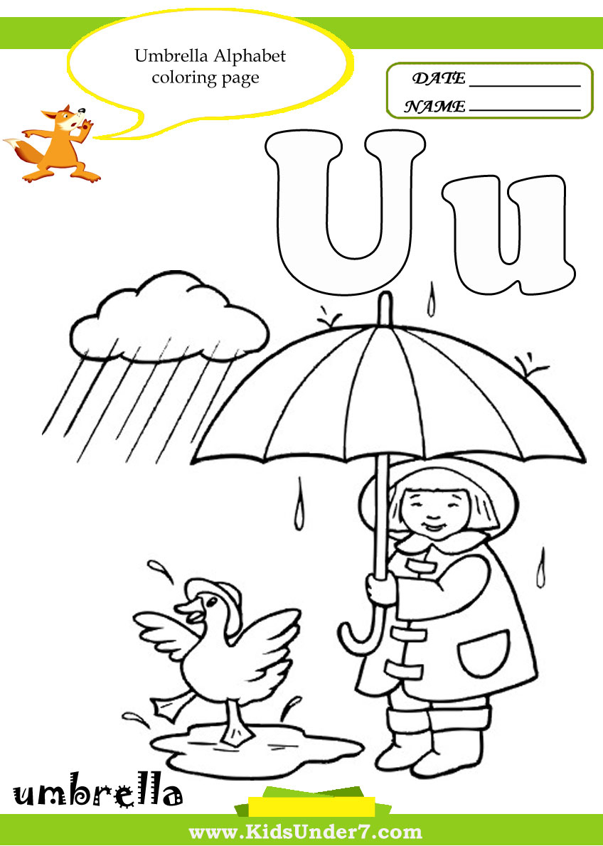 Kids Under 7: Letter U Worksheets And Coloring Pages - Free Printable Letter U Coloring Pages
