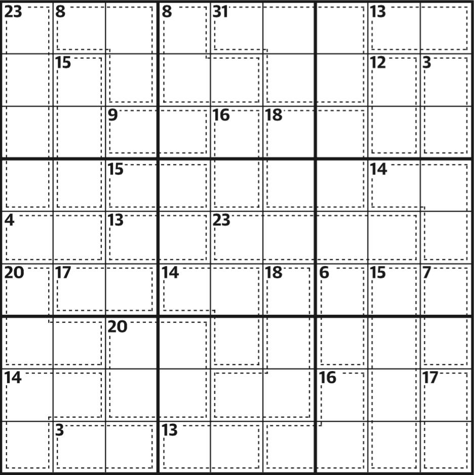 Killer Sudoku 589 | Life And Style | The Guardian - Killer Sudoku Free Printable