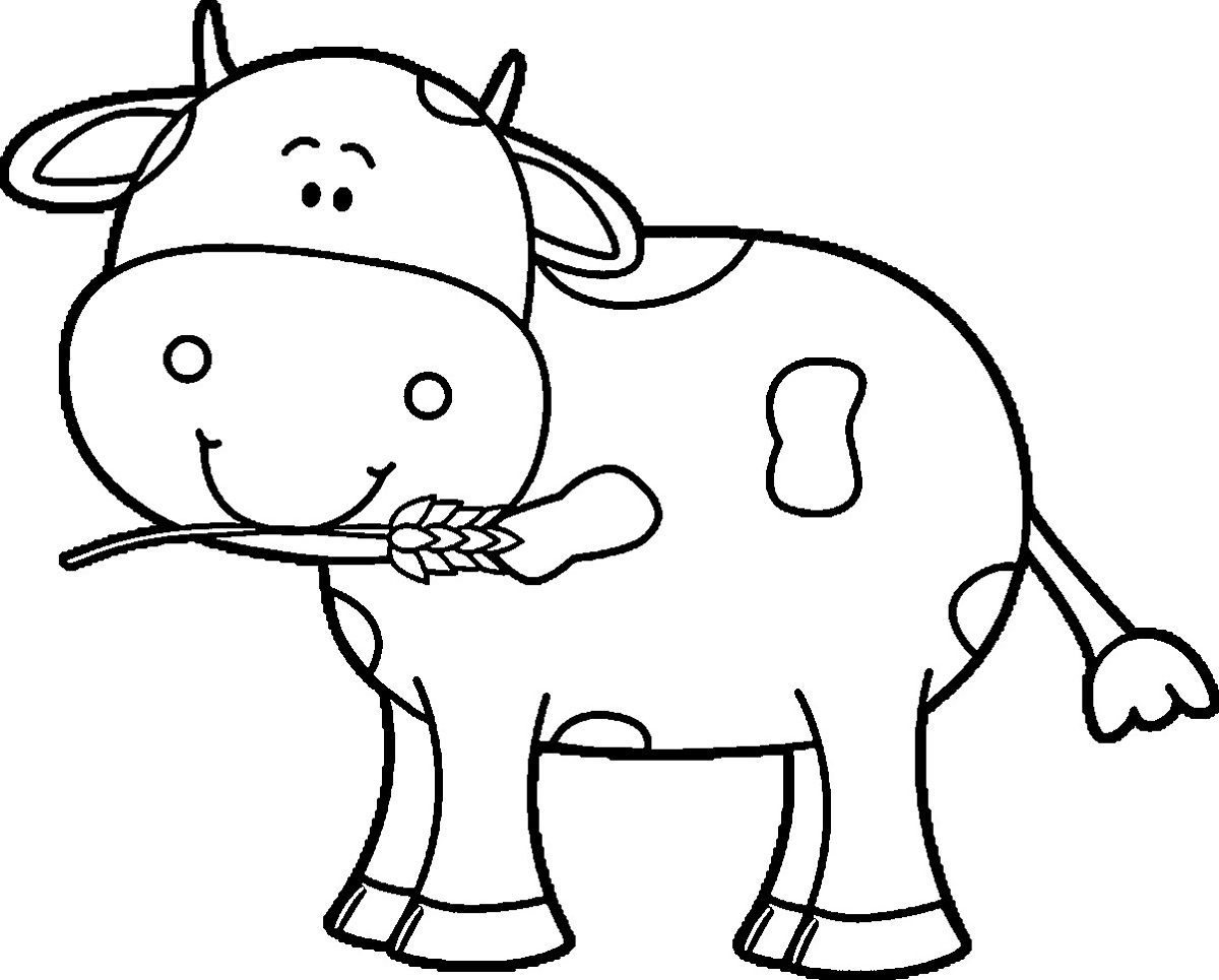 Kindergarten Coloring Pages Free Cow | Learning Printable | Coloring - Coloring Pages Of Cows Free Printable