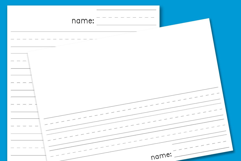 Kindergarten Lined Paper - Download Free Printable Paper Templates - Free Printable Lined Handwriting Paper