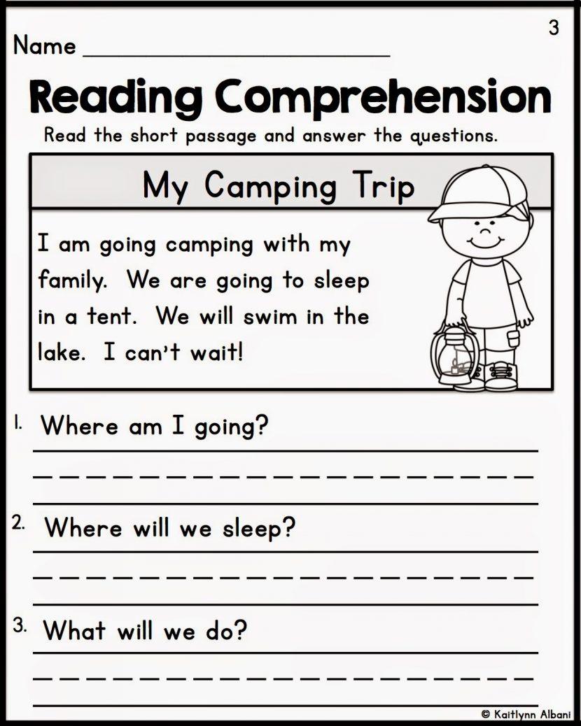 Kindergarten Reading Comprehension Worksheets Multiple Cho - Free Printable Reading Comprehension Worksheets For Kindergarten