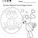 Kindergarten Valentine's Day Activities Worksheet Printable | Cute   Free Printable Preschool Valentine Worksheets