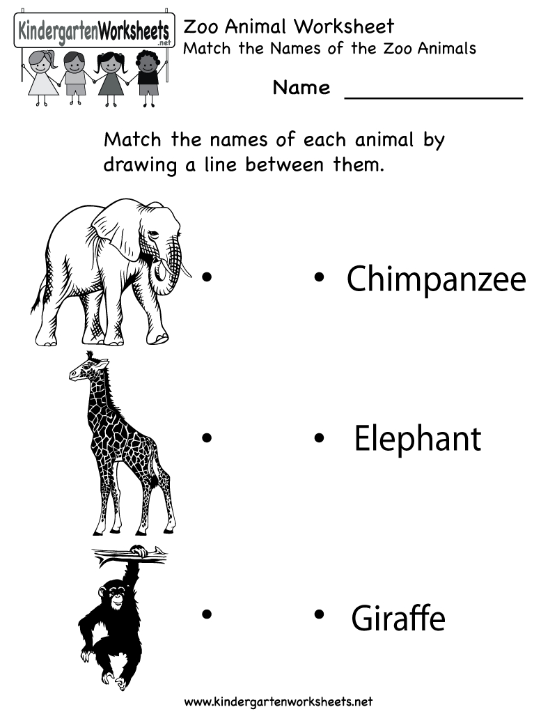 Kindergarten Zoo Animal Worksheet Printable | Worksheets (Legacy - Free Printable Zoo Worksheets