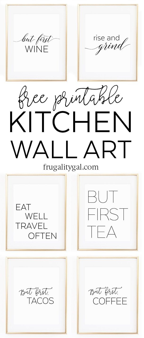 Kitchen Gallery Wall Printables | Free Printable Wall Art - Free Printable Art Pictures