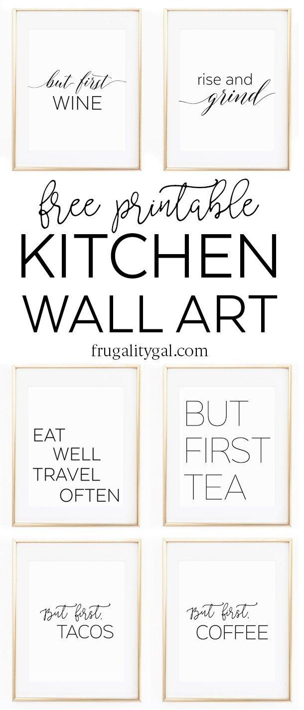 Kitchen Gallery Wall Printables | Free Printable Wall Art - Free Printable Decor