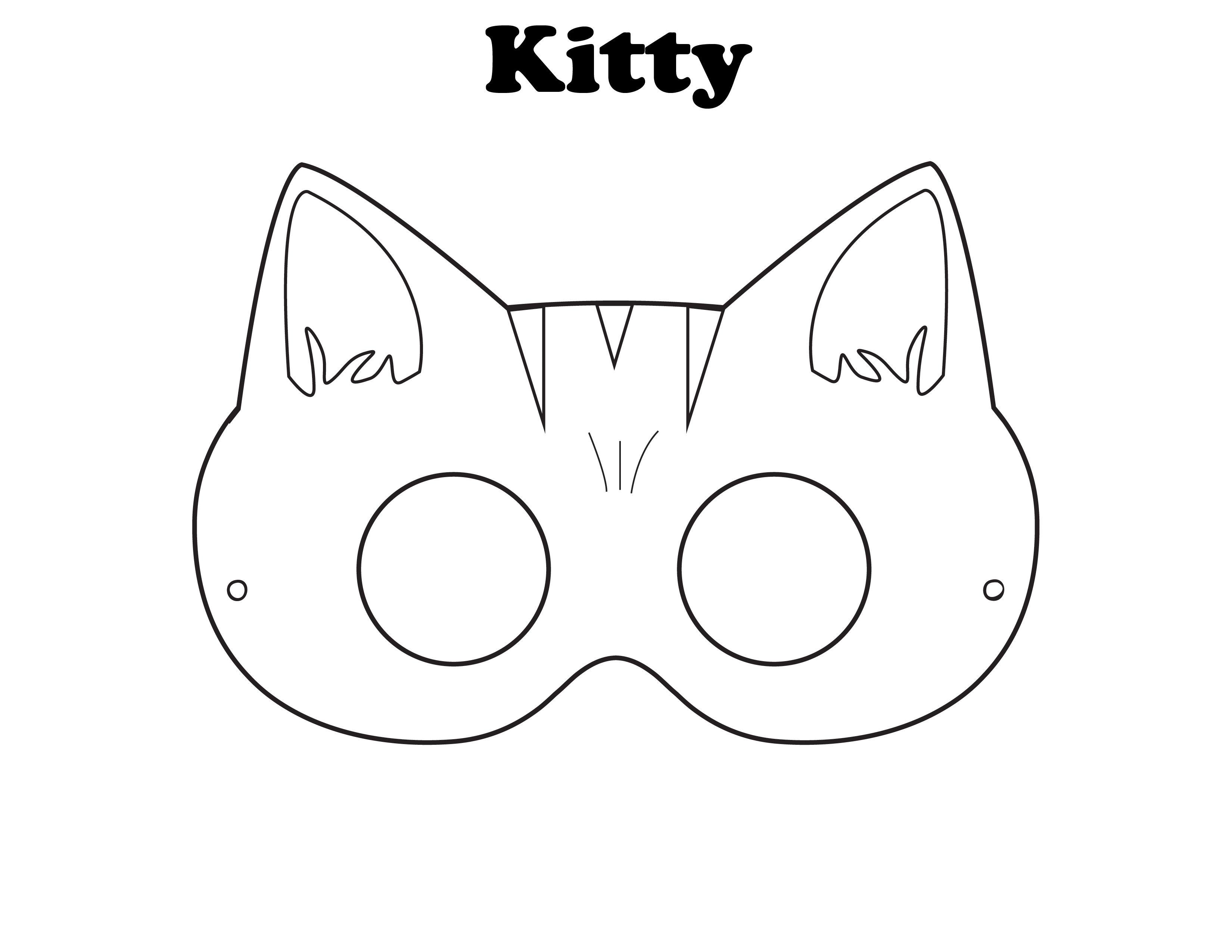 Kitty Mask Free Printable Halloween Masks On Outstanding Halloween - Free Printable Fox Mask Template