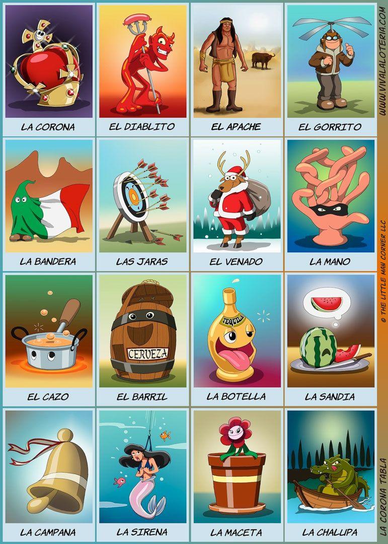 La Corona Tabla | Mexico For Culture Day | Pinterest | Loteria Cards - Loteria Printable Cards Free