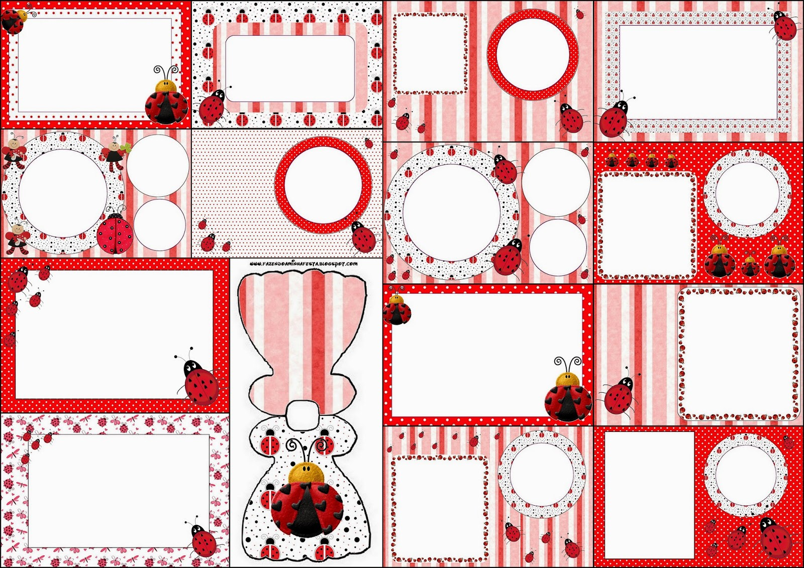 Ladybugs: Free Printable Invitations. | Oh My Fiesta! In English - Free Printable Ladybug Invitations
