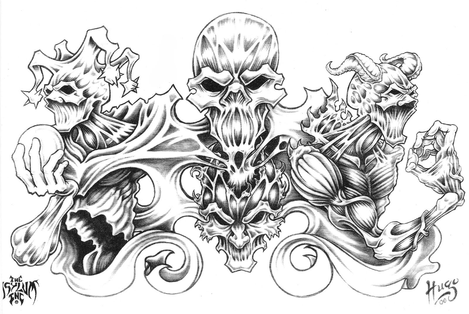 Large Free Printable Tattoo Designs | Best Quarter Sleeve Tattoo - Free Printable Tattoo Designs