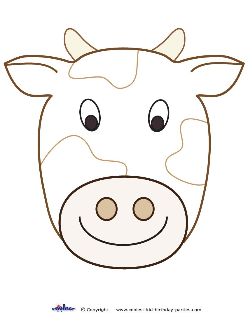 Large Printable Cow Decoration - Coolest Free Printables | Cow - Free Printable Paper Masks