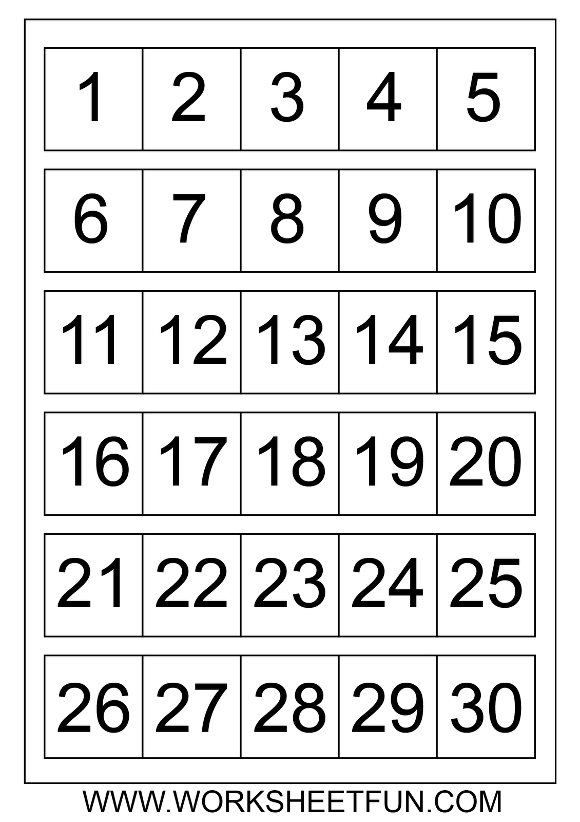 Large Printable Numbers 1 100 | To Dot With Numbers Printable - Free Printable Table Numbers 1 30