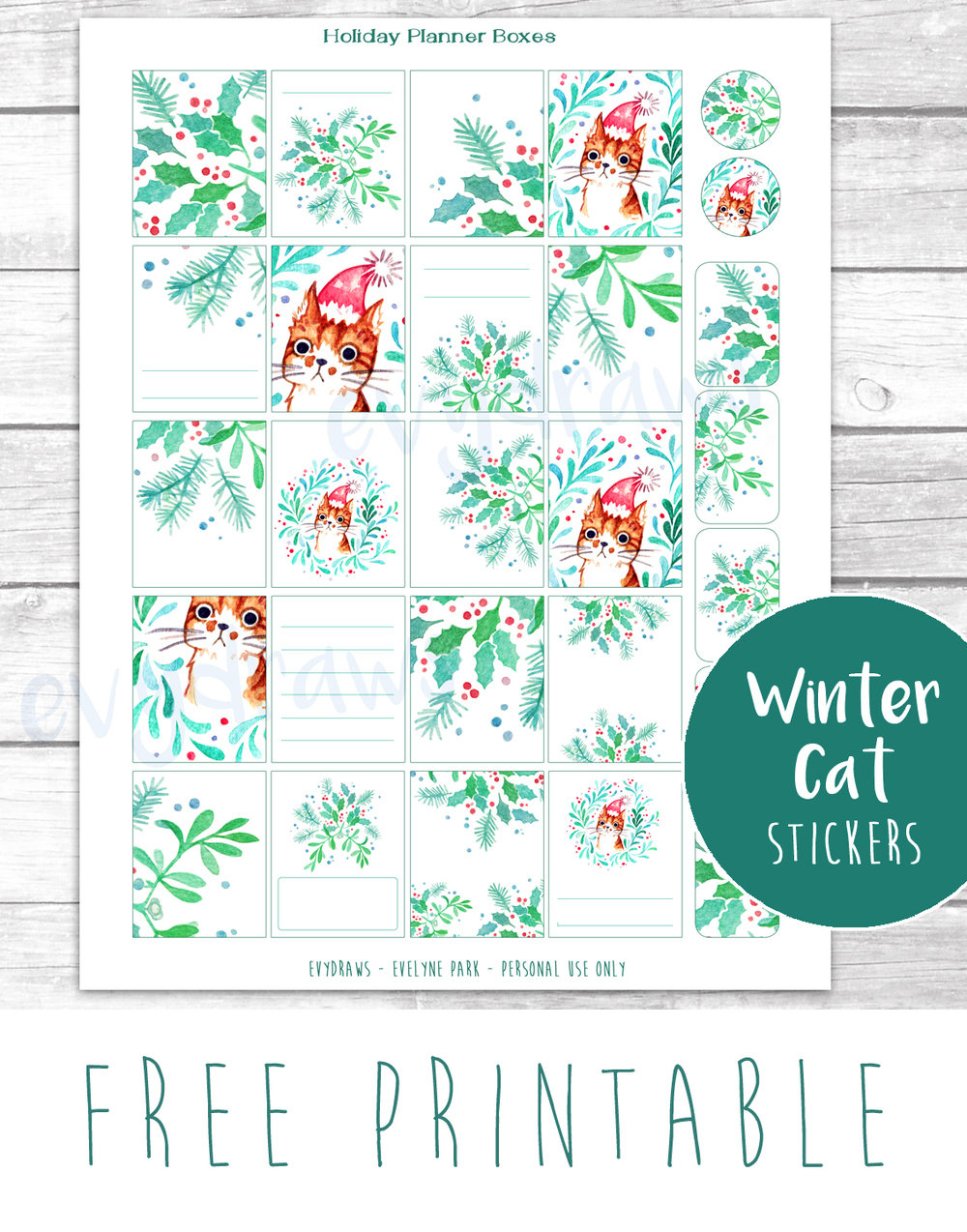 Last-Minute Diy: Free Printable Gift Tags, Stickers & Cards — Evydraws - Free Printable Stickers