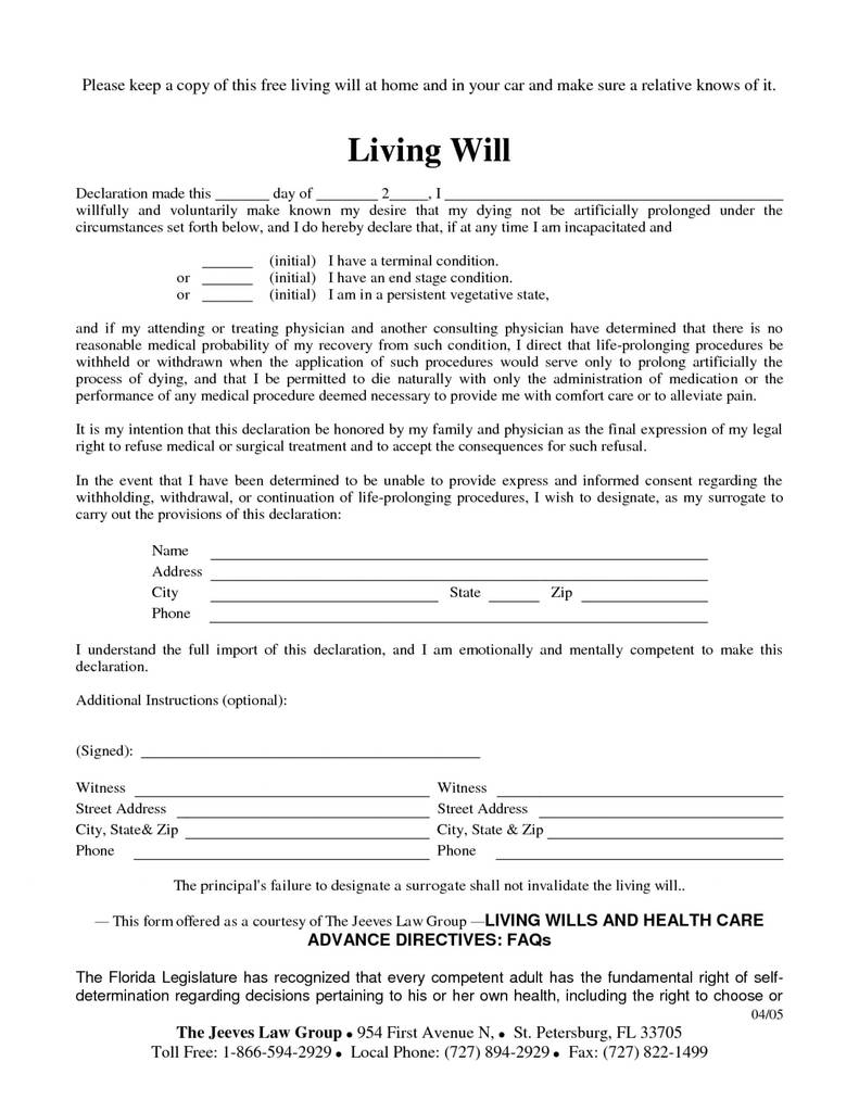 Last Will And Testament Form California Pdf Elegant Free Will Forms - Living Will Forms Free Printable