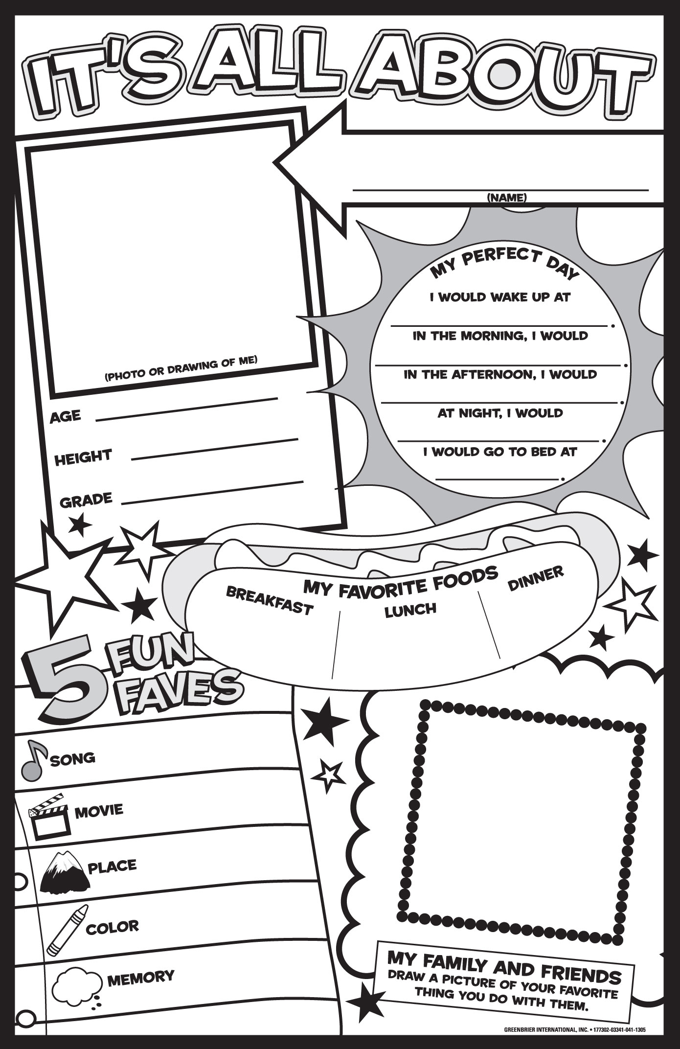 Lauren Gregory » About Me Poster - Free Printable All About Me Poster