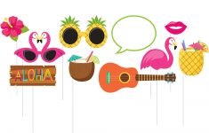 Hawaiian Photo Booth Props Printable Free