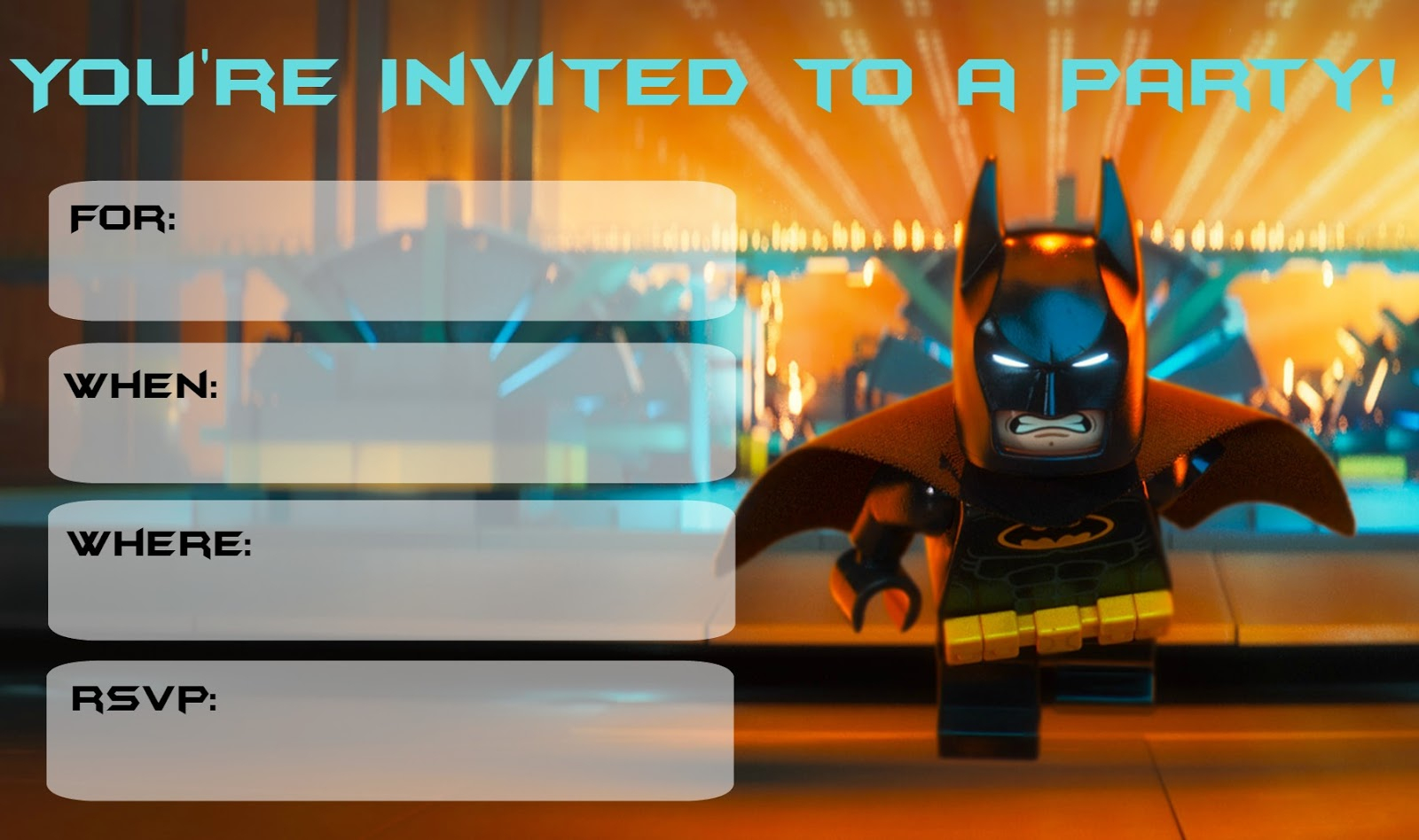 Lego Batman Binvitation Superb Lego Batman Party Invitations Free - Lego Batman Invitations Free Printable