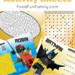 Lego Batman Movie Free Printable Activity Sheets | Lego Dc | Pinterest   Free Printable Lego Batman