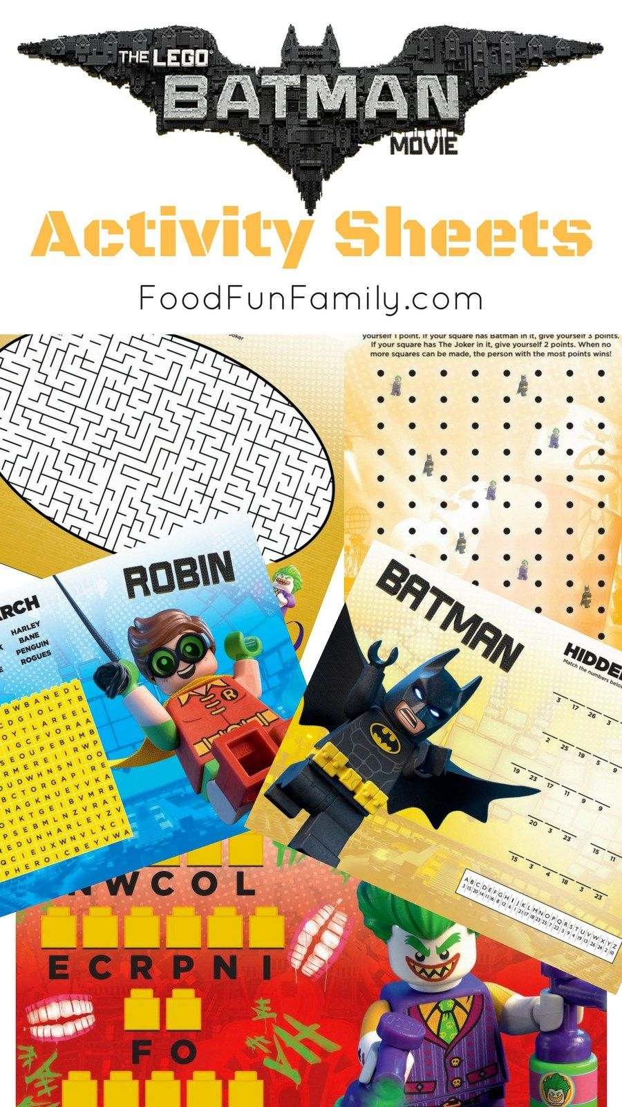 Lego Batman Movie Free Printable Activity Sheets | Lego Dc | Pinterest - Free Printable Lego Batman