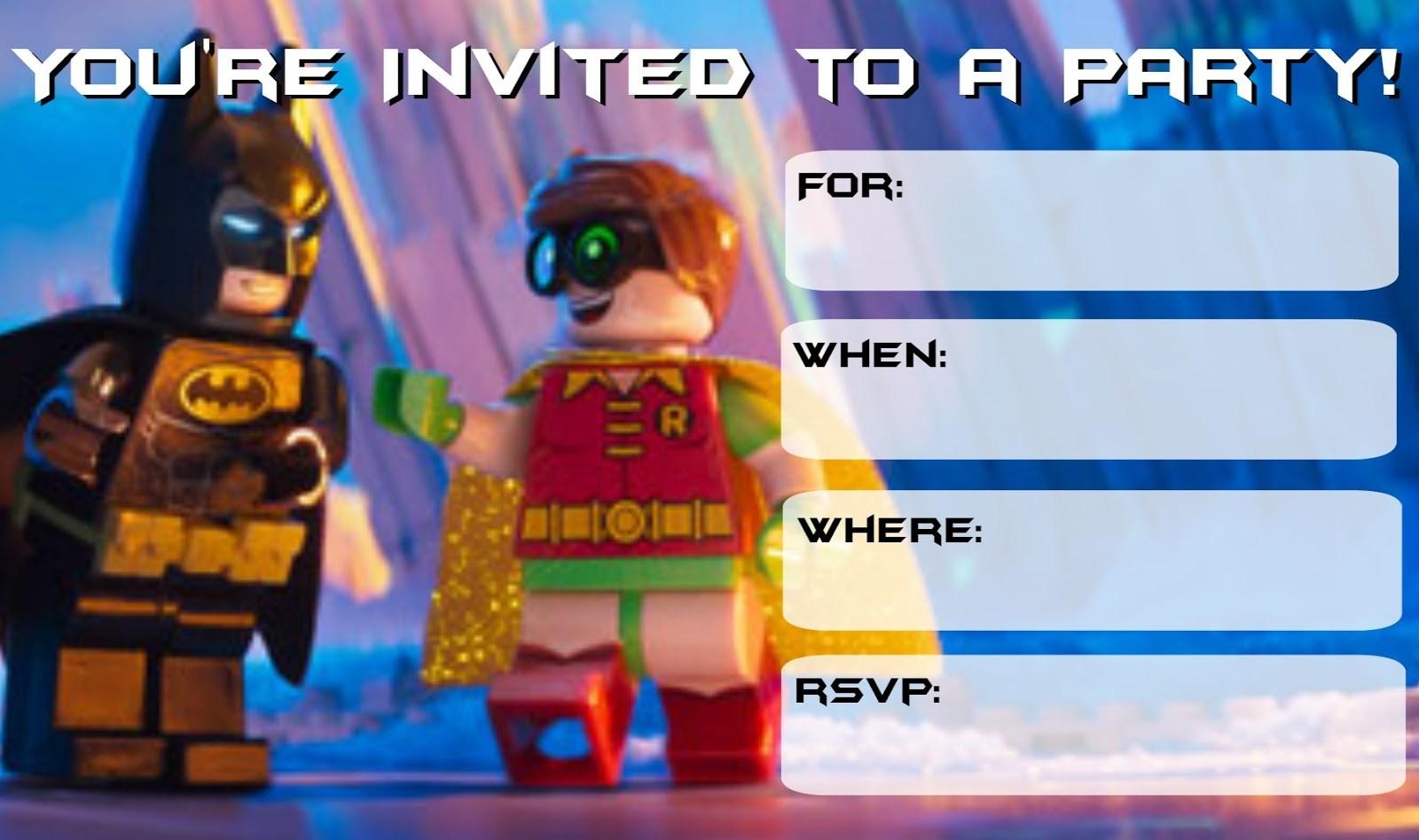 Lego Batman Printable Invitations – Jowo - Lego Batman Party Invitations Free Printable