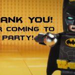 Lego Batman Thank You Cards | Lego Batman Super Heros Printables   Free Printable Lego Batman