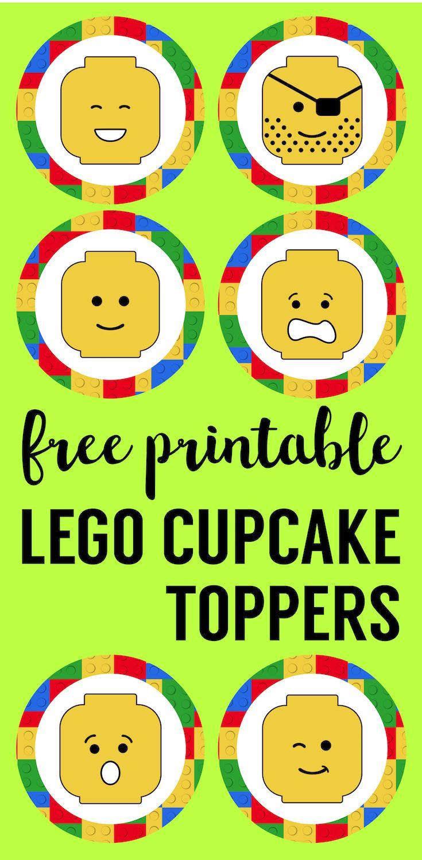 Lego Cupcake Toppers Printable | Future Classroom | Pinterest | Lego - Free Printable Lego Cupcake Toppers