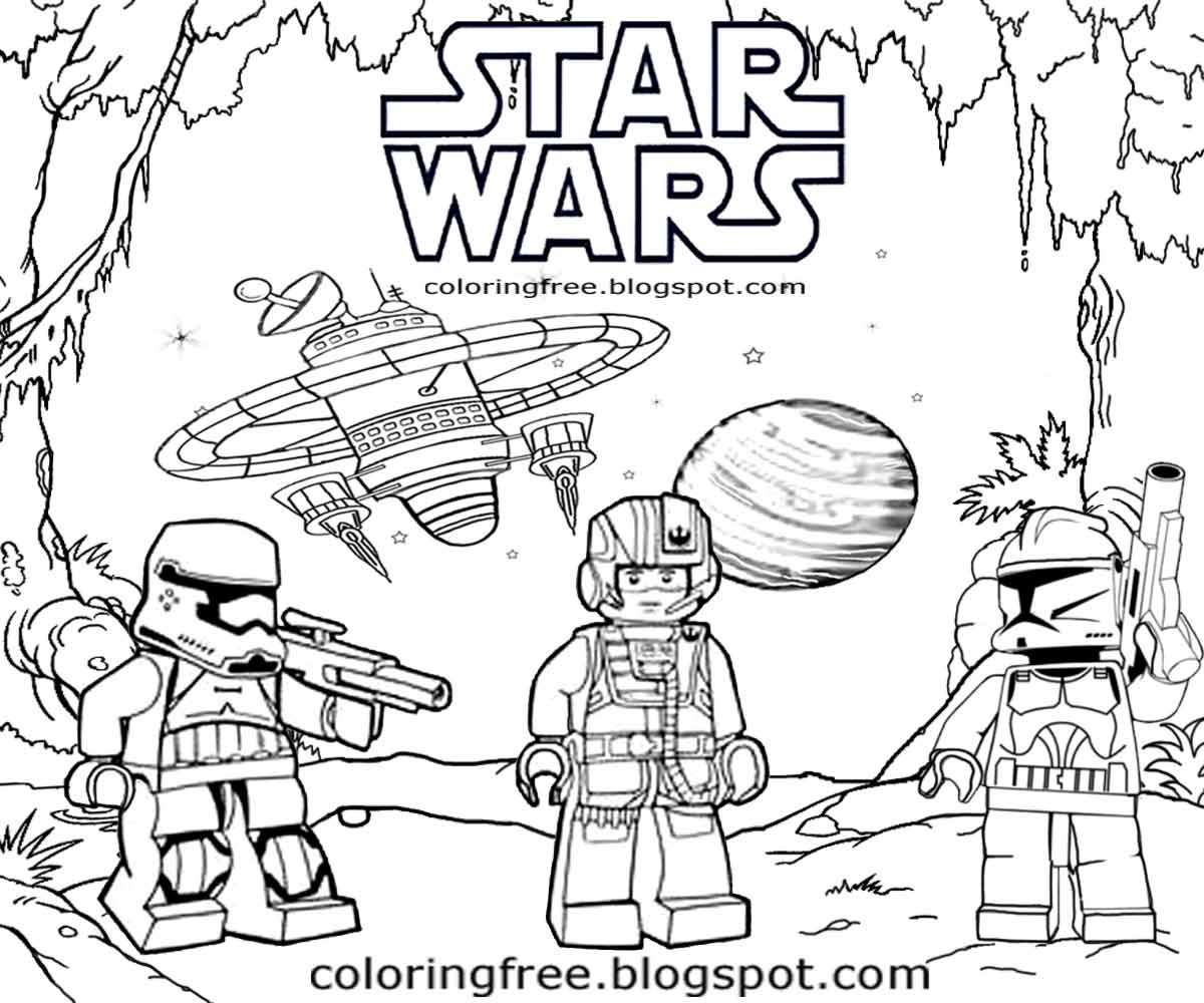 Lego Star Wars Coloring Pages 5 #26703 - Free Printable Star Wars Coloring Pages