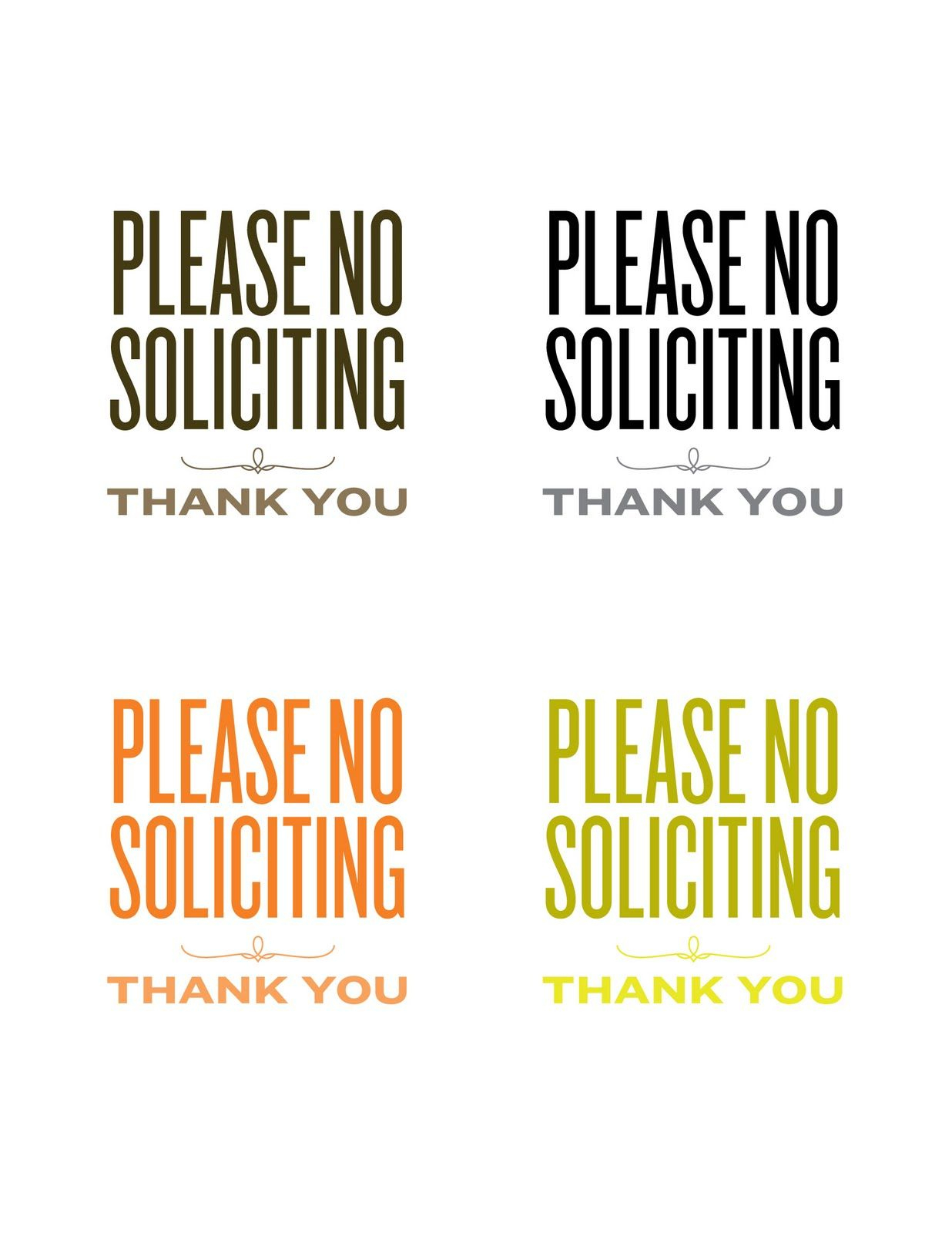 Lemon Squeezy: A New Sign | Misc. Printables | Pinterest | No - Free Printable No Soliciting Sign