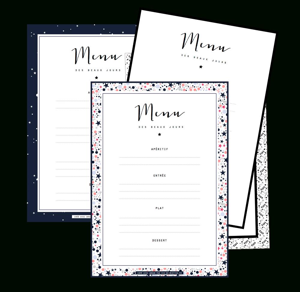 Les Menus De Noël À Compléter Et Imprimer   Gift Things   Printable - Free Printable Menu