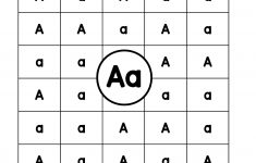 Letter A: Letter Detective Uppercase & Lowercase Visual - Free Printable Lower Case Letters