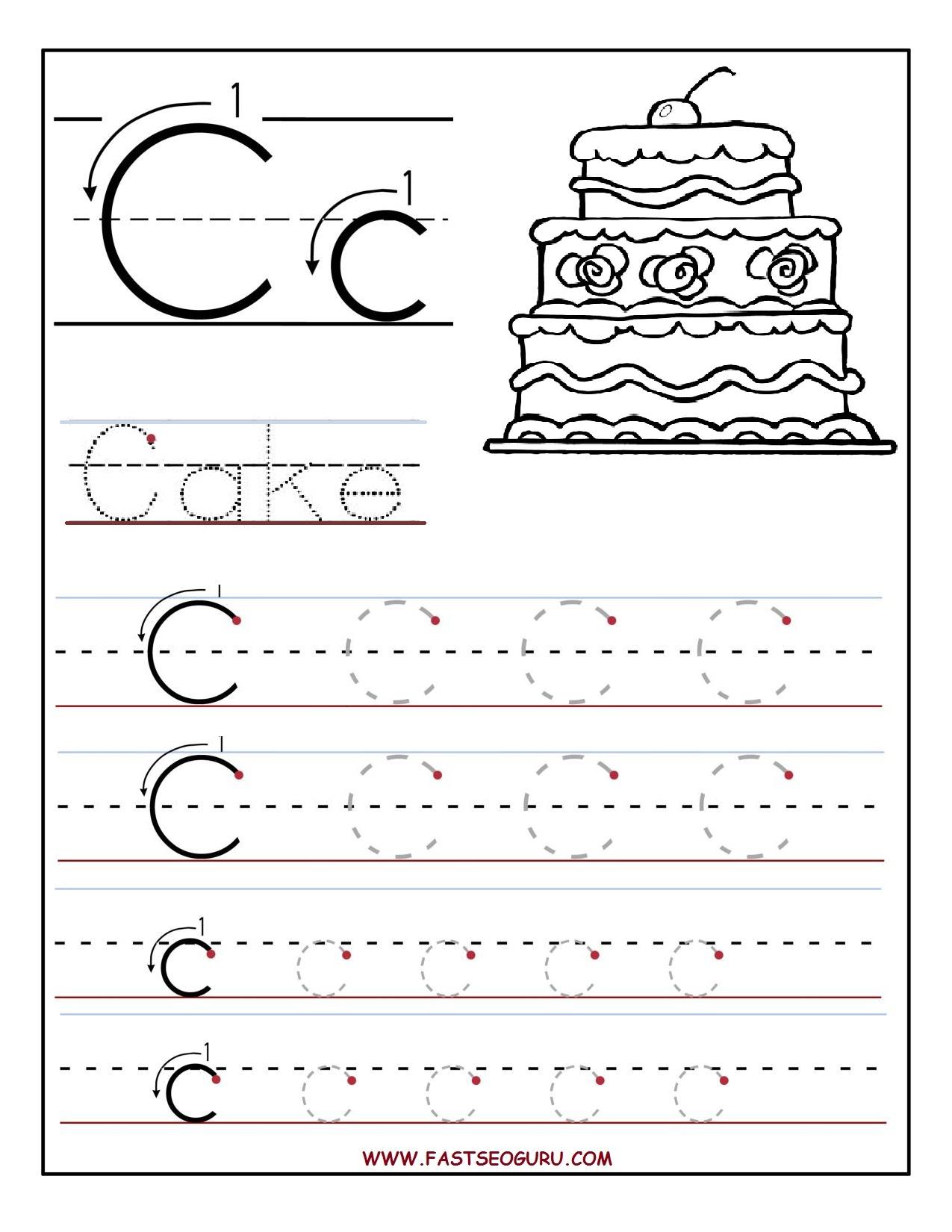 Letter C Worksheets | Gplusnick - Free Printable Letter C Worksheets