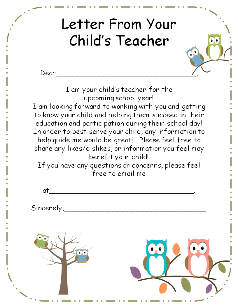 Letter From Teacher To Parents {Editable} | Teaching | Pinterest - Free Printable Teacher Notes To Parents