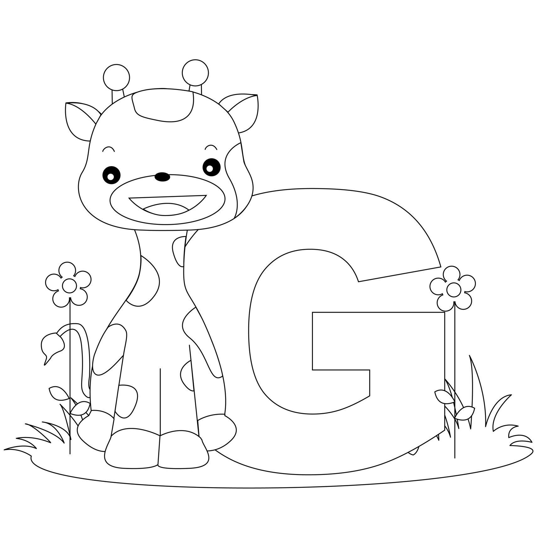 Letter G Coloring Page 11 #9625 - Free Printable Letter G Coloring Pages