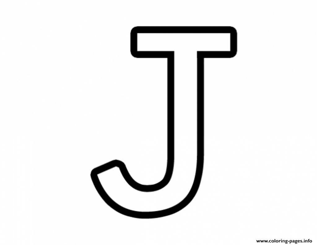 Letter J Free Alphabet 651A Coloring Pages Printable - Free Printable Letter J