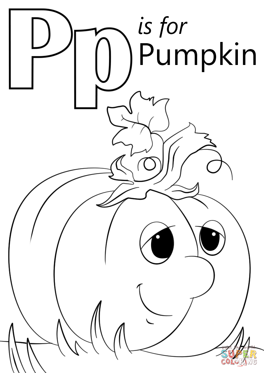 Letter P Is For Pumpkin Coloring Page | Free Printable Coloring Pages - Free Printable Pumpkin Coloring Pages