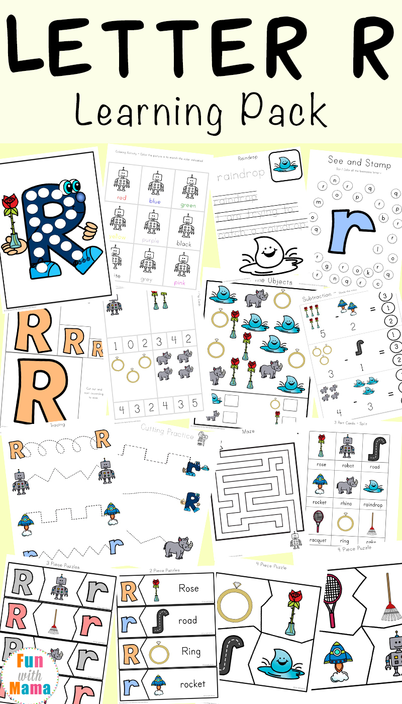 Letter R Worksheets And Printable Preschool Activities Pack - Fun - Free Printable Preschool Worksheets For The Letter R