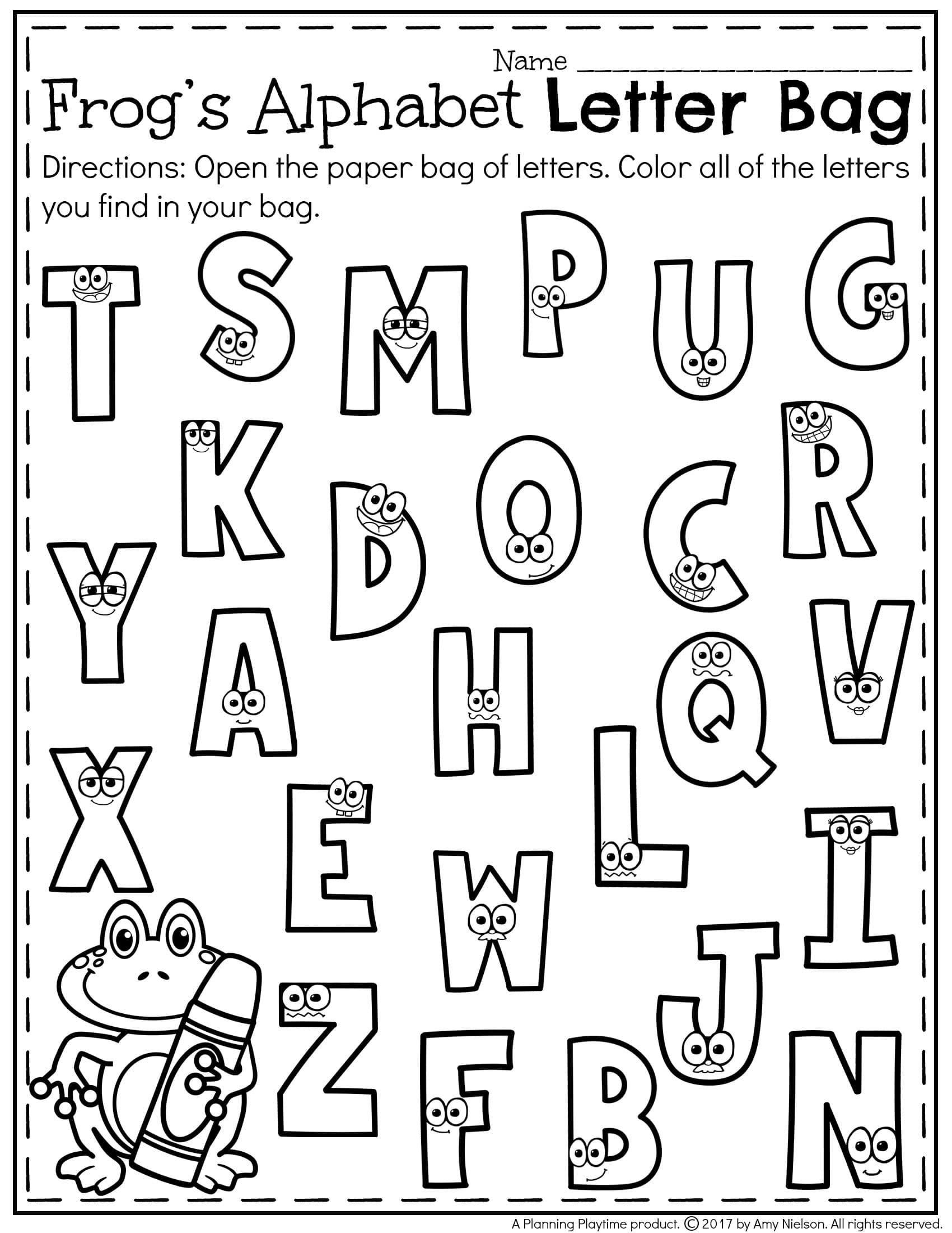Letter Recognition Worksheets - Planning Playtime - Free Printable Letter Recognition Worksheets