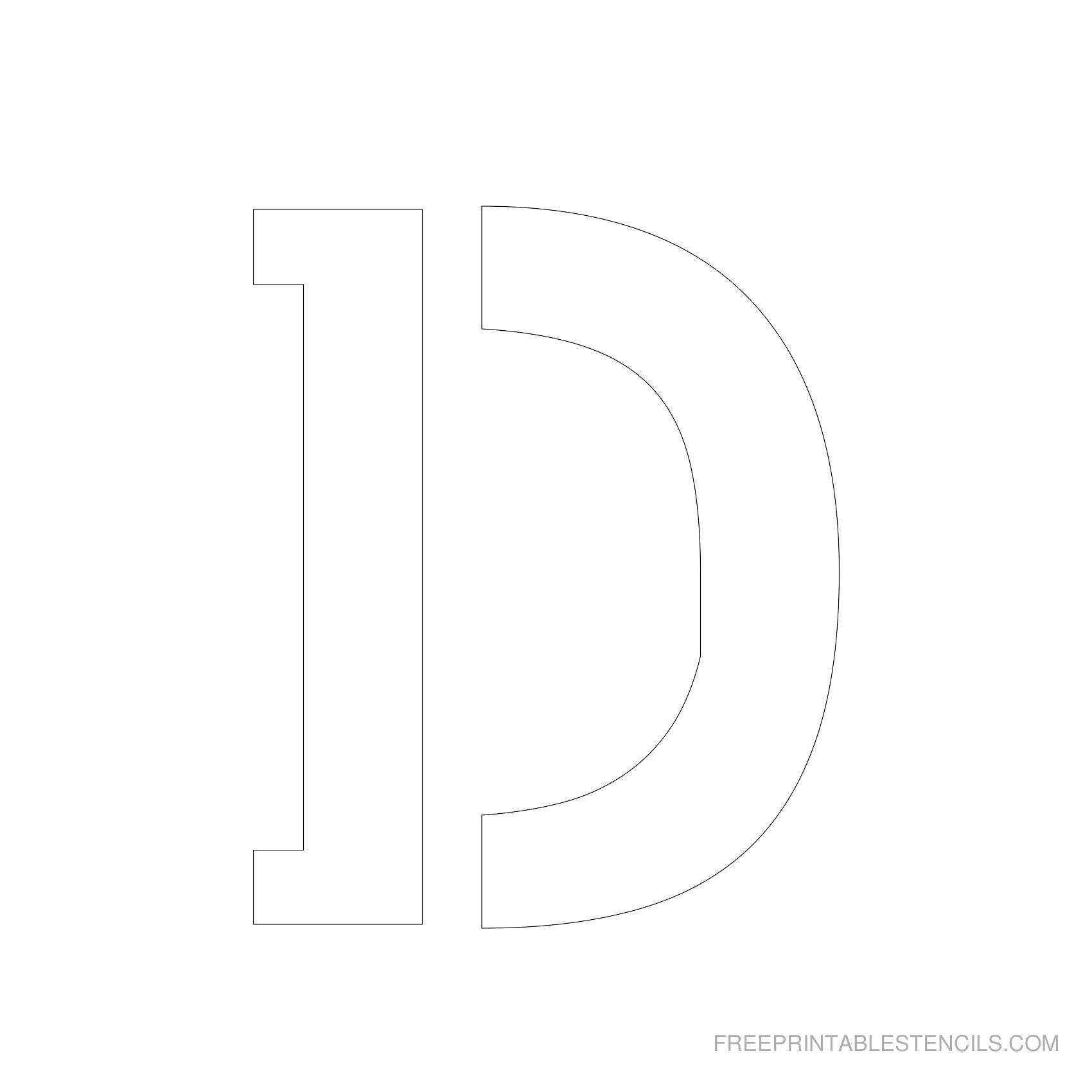 Letter Stencils To Print | Free Printable Stencils - Free Printable Alphabet Stencils